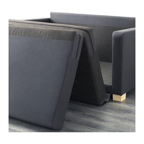 ullvi two seat sofa bed ransta dark grey ikea