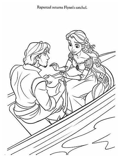 Coloring Rapunzel Pages Tangled Flynn Rider Coloringdisney