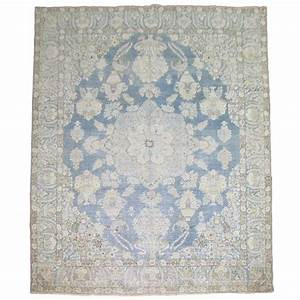Light blue antique persian rug at 1stdibs for Light blue persian carpet