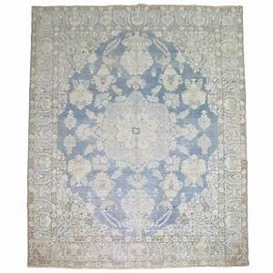 Light blue antique persian rug at 1stdibs for Light blue persian carpet