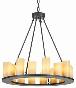 Industrial modern candle chandelier