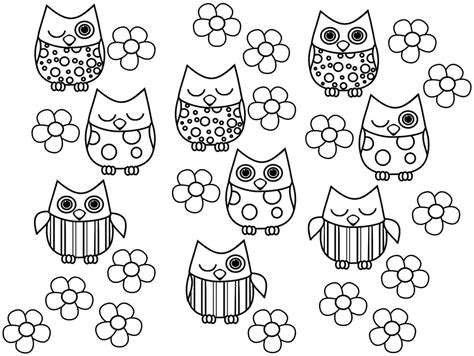 Free Owl Printable Coloring Page