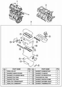 2004 Kia Rio Short Engine  U0026 Gasket Set