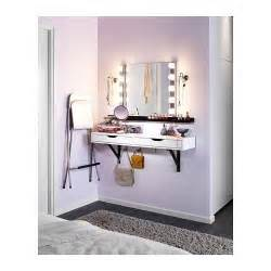 ikea ekby alex shelf with mirror and lighting makeup station for my 39 s