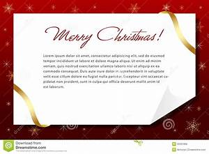 a christmas letter stock vector image of elegant With christmas photo cards with letter on back