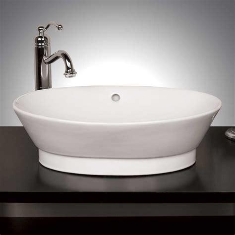 Porcelain Sink by Oval Porcelain Vessel Sink Signaturehardware