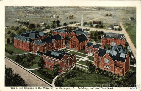 Plan of the Campus of the University of Dubuque Iowa