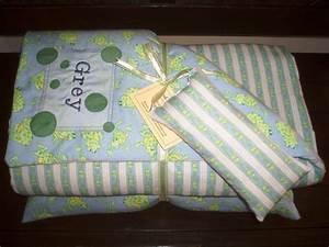Toddler Swaddler Monogrammed Blanket Pillow And Door