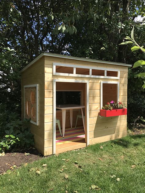 easy  build diy outdoor wood playhouse inspired