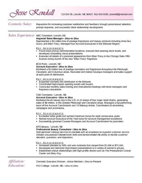 sle resume for cosmetic retail sales resume ixiplay