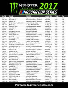 2017 NASCAR Cup Schedule Printable