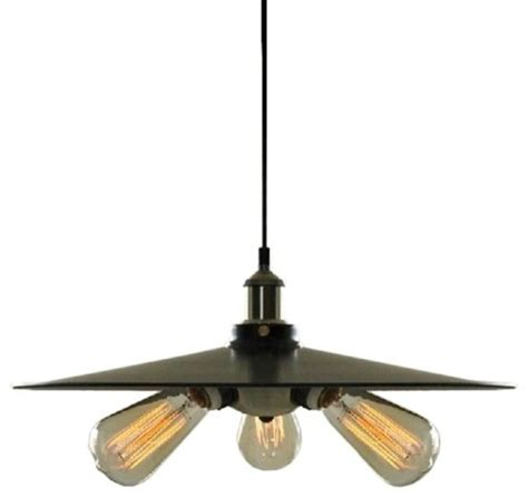 3 lights retro industrial style plate shape pendant light