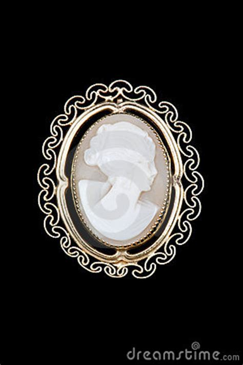 vintage cameo brooch royalty  stock images image