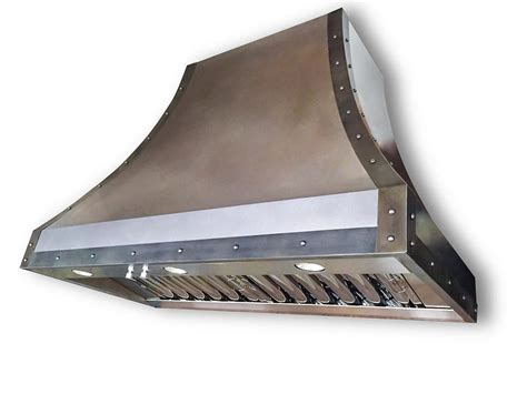 Buy a Hand Crafted #9 Zinc Range Hood, made to order from