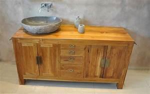 Badezimmer Waschtisch Holz : massivholz waschtische waschtisch unterschrank aus teak holz und m bel f r das badezimmer ~ Frokenaadalensverden.com Haus und Dekorationen