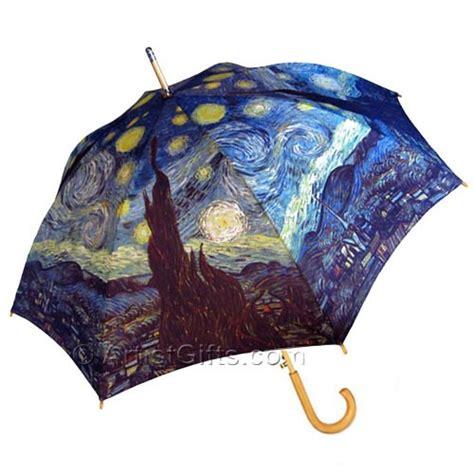 van gogh starry night umbrella stick style