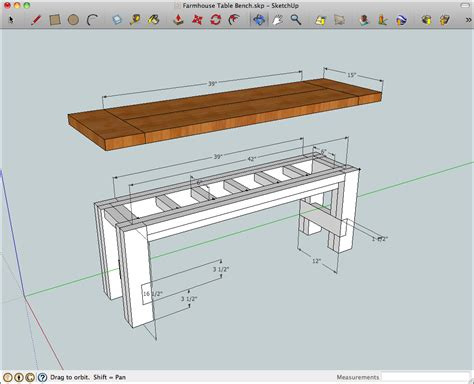 rustik 2x4 dimensions rustic farmhouse table bench plans my next projects farmhouse table with bench rustic