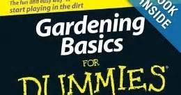 gardening basics for dummies gardening basics for dummies