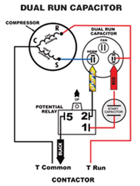 Wiring Diagram For Air Conditioner Capacitor Fixya