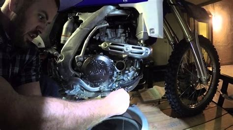 yamaha wrf oil change youtube