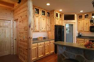 knotty pine panelingastonishing home makeovers you With kitchen cabinets lowes with pine tree wall art