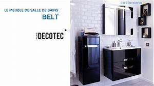 meuble de salle de bains belt decotec 649140 castorama With meuble salle de bain solde castorama