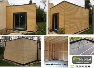Kit Extension Bois Toit Plat : extension de maison en kit fabulous par exemple ou un kit dextension de maison pour agrandir ~ Farleysfitness.com Idées de Décoration