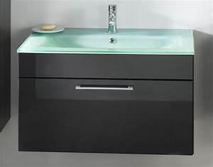 Waschtisch 50 Cm Breit : bad waschtisch hera mit glaswaschbecken aquamarin 90 cm breit anthrazit bad waschtische ~ Bigdaddyawards.com Haus und Dekorationen