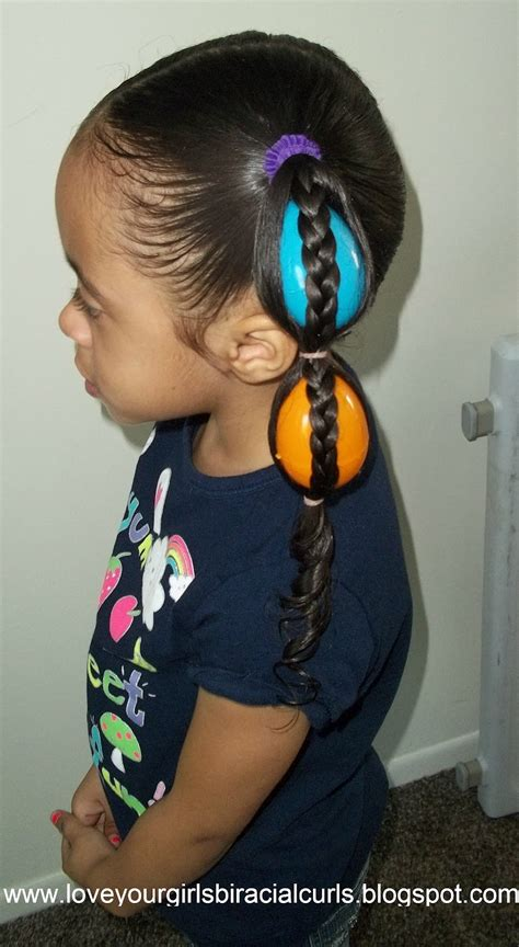 Love Your Girls Biracial Curls: Egg Tails Easter Hairstyle