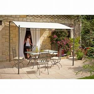 Jardiland Parasol Déporté : auchan tonnelle cool simple auvent de terrasse pas cher ~ Premium-room.com Idées de Décoration