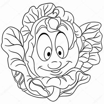 Cartoon Colorir Patch Repolho Coloring Cabbage Vegetal