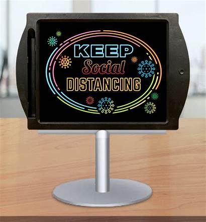 Sanitize Social Signs Distancing Counter Sanitizer Stand