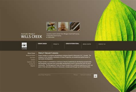 best website designs emaar canada website design website designs