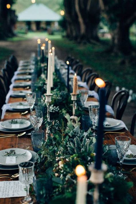 fall wedding table runners  beautiful decor