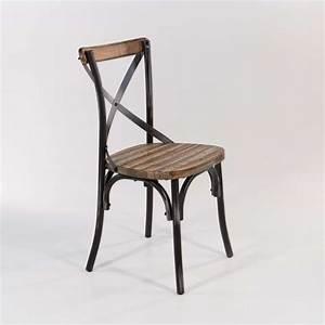 Chaise Bois Vintage : chaise bistrot vintage en bois et m tal patin madie 4 ~ Teatrodelosmanantiales.com Idées de Décoration