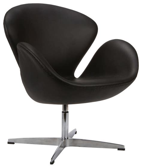 modern curved swivel chair in black modern office chairs