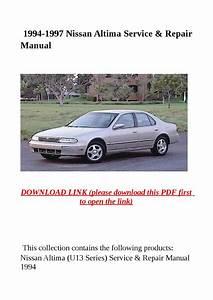 1994 1997 Nissan Altima Service  U0026 Repair Manual By Herrg