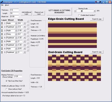 cutting board designer cutting board design software cbdesigner by jayman7