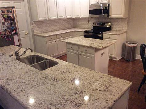 white orion granite countertops installation