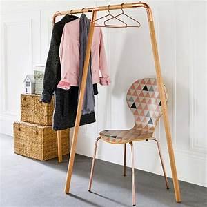 Portant Vetement En Bois : portant la redoute en bois ~ Melissatoandfro.com Idées de Décoration