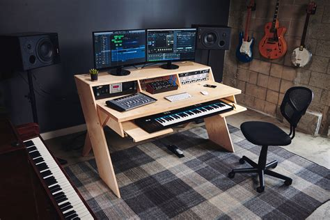music studio desk workstation outputs platform could be the home studio desk musicians