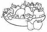 Fruit Coloring Bowl Pages Printable sketch template