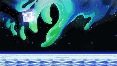 Minecraft Pixel Art Space Nebula 8 Bit 16 Bit