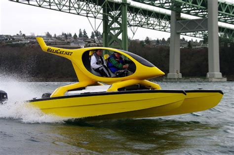 Small Two Person Motor Boat by Helicat 2 Person Catamaran For Fast Fun Megayacht News