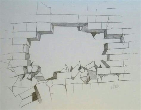 brick wall drawing brick wall drawing at getdrawings free for 3d