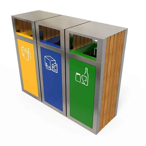 poubelle tri selectif exterieur kuokio poubelle ext 233 rieur tri s 233 lectif 3 bacs tri des d 233 chets