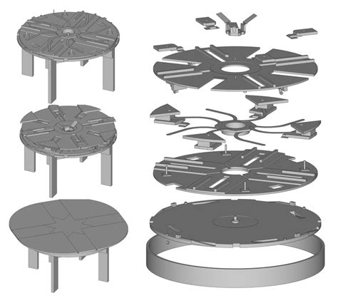 expanding round table plans buy plans mechanical lumber