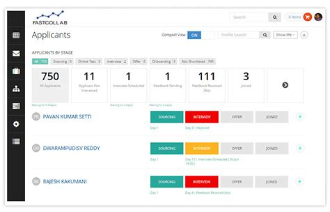 Resume Tracking System by Applicant Tracking System Recruitment Software