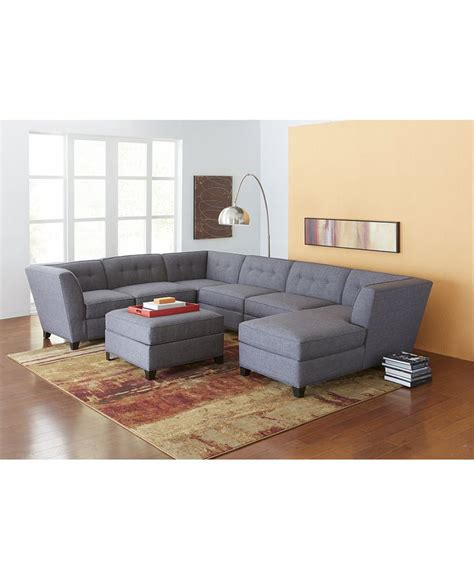Harper Fabric 6piece Modular Sectional Sofa Couches