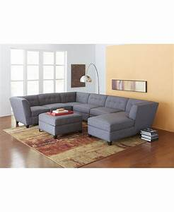Harper fabric 6 piece modular sectional sofa created for for 95 x 95 sectional sofa